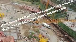 China Supplier Prefabricated Industrial High Rise Steel Building Construction For Mall Or Hotel