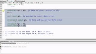 Advanced C++: const
