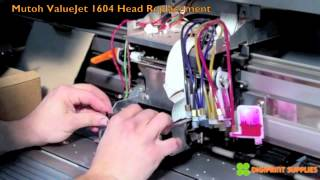 Mutoh Valuejet 1604 Print Head Replacement