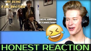 HONEST REACTION to jin being a big brother for 6 minutes