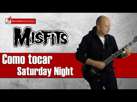 Como Tocar Saturday Night De Misfits Tutorial Para Guitarra