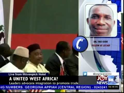 A United West Africa - Today's Big Story on Joy News (10-7-14)