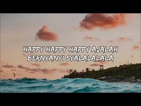 DJ Qhelfin   Happy Ajalah Ft  Gafar Lyrics Lyric Video   YouTube