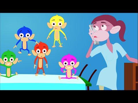 Five Little Monkeys | Nursery Rhymes | kids songs