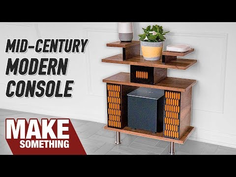 How to Make Mid-Century Modern Console // Woodworking Project