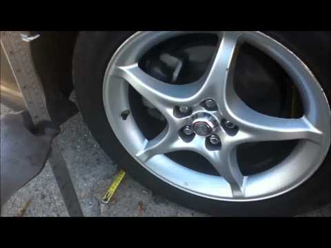 How To Adjust/Check Wheel/Tire Toe Alignment diy w/ tape measure easy and cheap