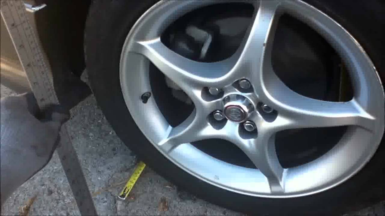 How To Adjust Check Wheel Tire Toe Alignment Diy W Tape Measure Easy And Cheap Youtube