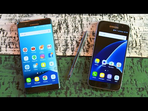 Samsung Galaxy Note 7 vs Galaxy S7 - Comparison!