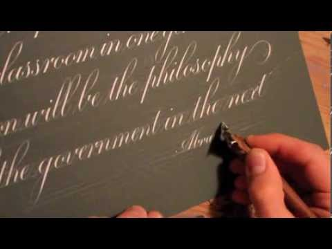 Copperplate Calligraphy: Abraham Lincoln Quote