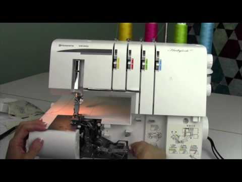 Husqvarna Viking S-21 Serger 31 Converting from Coverstitch to Serger