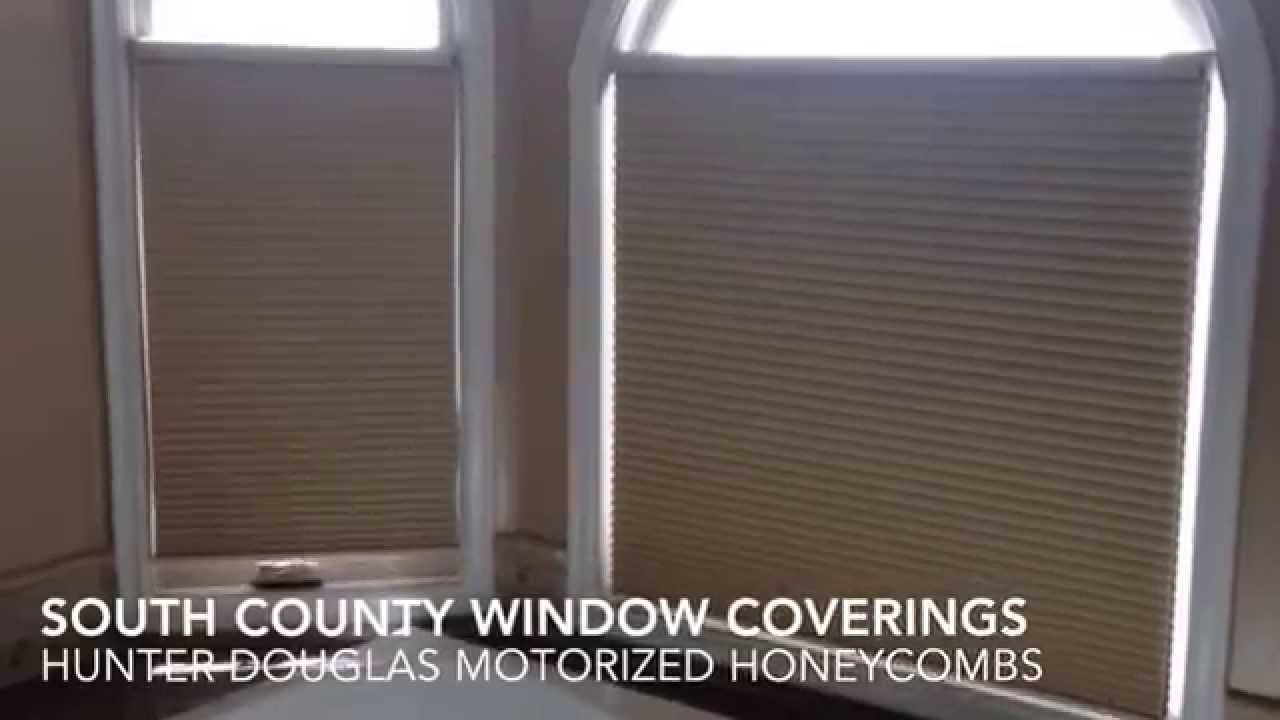 Hunter douglas motorized shades for arched windows south for Hunter douglas motorized blinds