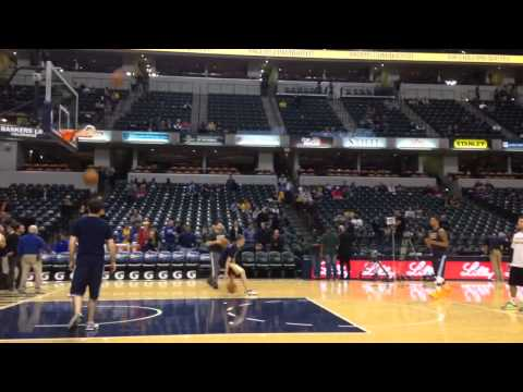 Paul George road to recovery 12-15-14 shoots around before Lakers game