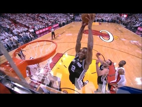 Kawhi Leonard Full Highlights Spurs vs Heat Game 4 (6/12/2014) 20 Pts, 14 Reb - Project Spurs