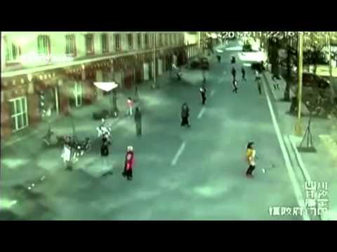 CCTV footage shows the moment of SW China earthquake