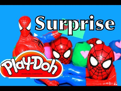 Play-Doh Surprise Eggs Spiderman Shopkins My Little Pony Jelly Belly Play Dough Eggs