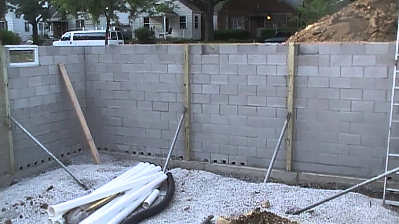 Exterior basement waterproofing how it looks before you - Sealing exterior cinder block walls ...