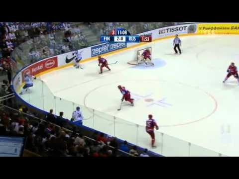 Jääkiekon MM 2011 Suomi - Venäjä [FIN - RUS] välierän maalikooste