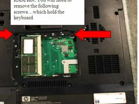 how to upgrade ram memory on hp nx6325 laptop / notebook