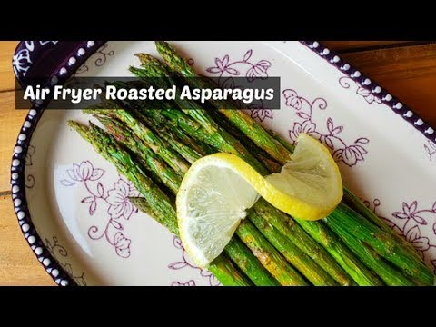 Air Fryer Roasted Asparagus ~ Cosori Air Fryer ~ Amy Learns to Cook