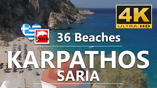 36 Beaches of Karpathos and Saria Islands, Greece - 12 min., 4K