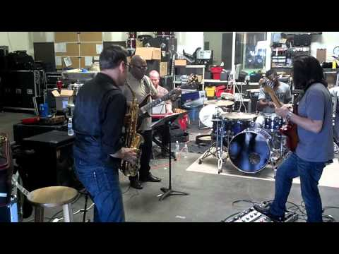 Blake Aaron (guitarist)&Will Donato (saxophonist) rehearsing