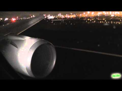 United 767-400 EPIC ROAR Night Takeoff from Newark Liberty!