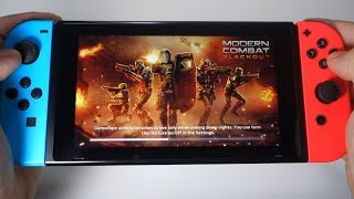 Modern Combat Blackout Nintendo Switch gameplay