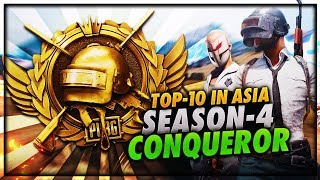 PUBG MOBILE LIVE   SEASON 4 CONQUEROR GAMEPLAY   PUSHING TO TOP 100 PLAYER IN ASIA😍😍