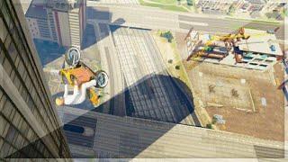 GTA 5 Funny Moments - Ridiculous Rooftop Bike Stunting (GTA V Online Stunts)