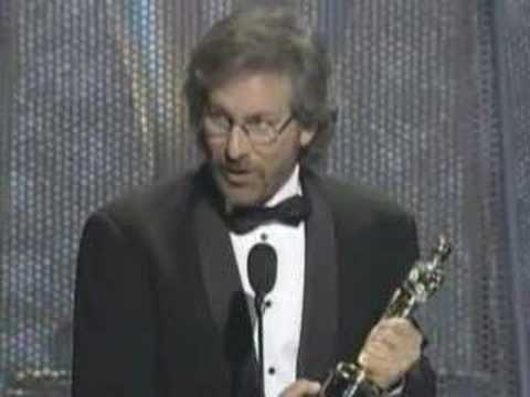 "Steven Spielberg winning an Oscar® for ""Schindler's List"""