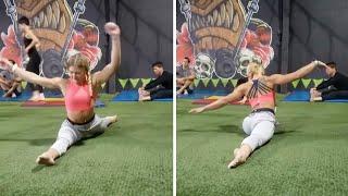 Super Flexible Woman Does Amazing Spilts
