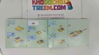 Hướng dẫn lắp ráp Lepin 18035 Lego Minecraft 21140 Chicken Coop giá sốc rẻ nhất