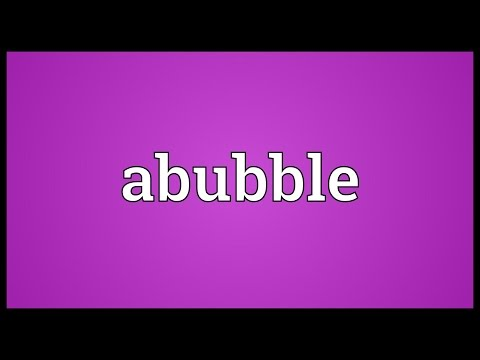 Header of Abubble