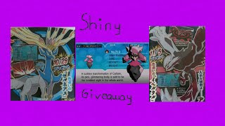 PokemonORAS: Random Giveaways- Shiny Xerneas/Yveltal/Diancie