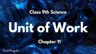 Unit of Work - Work and Energy  : CBSE Class 9  IX Science