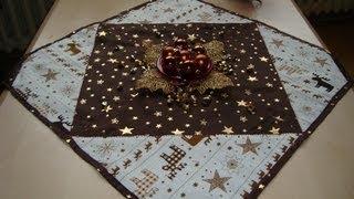 patchwork weihnachtstischdecke n hen. Black Bedroom Furniture Sets. Home Design Ideas