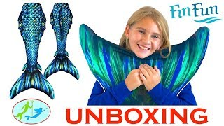 My First ATLANTIS MERMAID TAIL Unboxing and Swim in the Pool | Theekholms