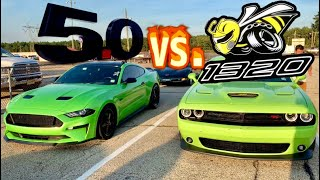 1320 SCATPACK CALLED ME OUT| 2018 MUSTANG GT vs. 2019 CHALLENGER 1320 SCATPACK DRAG RACE!