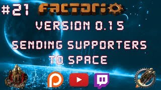 Factorio 0.15 Sending Supporters To Space EP 21: High Tech Science Packs! - Let's Play, Gameplay