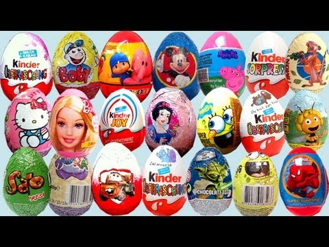20 Kinder surprise eggs collection toys Kinder Surprise Disney Pixar Zaini eggs - lababymusica