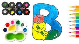 Bé Tô Màu Nước Chữ Cái ABC | Học Màu Sắc Cùng Búp Bê Chibi |Trẻ Thơ TV| Painting Colors For Kids #2