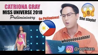 Catriona Gray | Full Performance at Miss Universe 2018 Preliminary Competition | REACTION