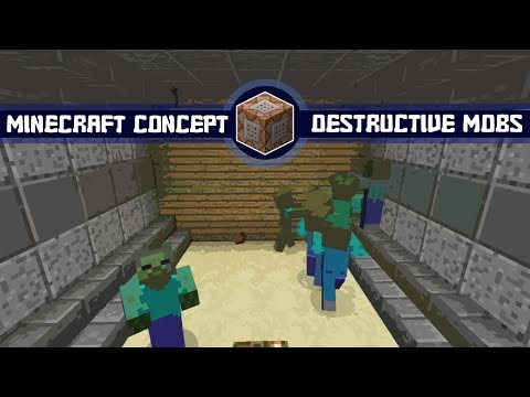 Minecraft Concept :: Destructive Mobs