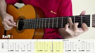 Sampai Menutup Mata - Acha Septriasa - Fingerstyle Guitar Cover - Tutorial TAB