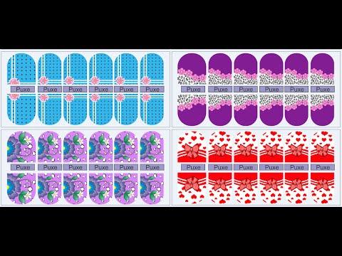 Como fazer Moldes para cartelas adesivos de unhas Corel Draw #1