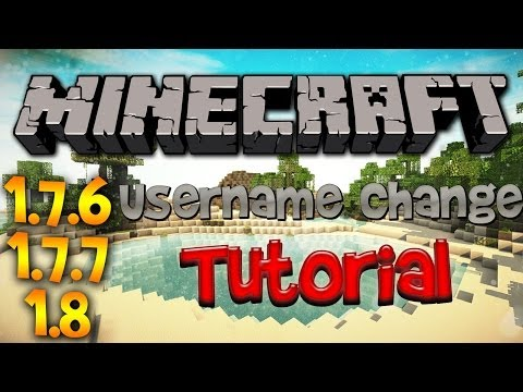 Minecraft: How to change your name in 1.7.8/1.7.9/1.8 (Minecraft Tutorial)