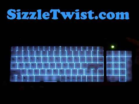 SizzleTwist - Illuminated Keyboard Review Luminescent Backlit Lighted