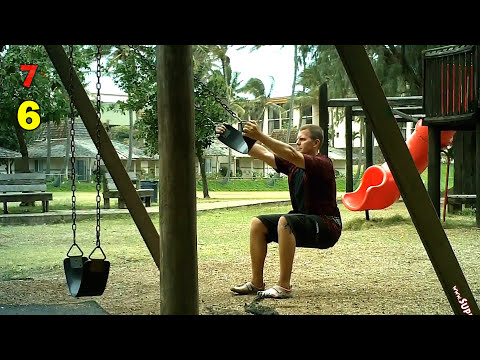 PLAYGROUND WORKOUT: Swing Squats for BUTT & THIGHS