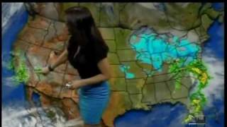 Jackie Guerrido showing us how sexy the weather can be.......