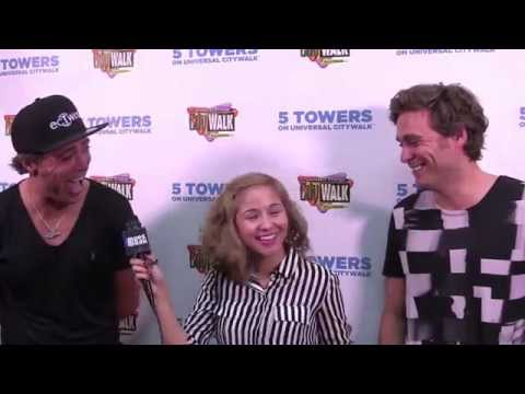 EC Twins and D'Arrigo at Music Spotlight Series at 5 Towers Universal Studios CityWalk